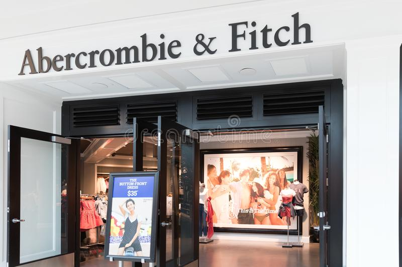 Abercrombie & Fitch In Beijing, China At Night Editorial