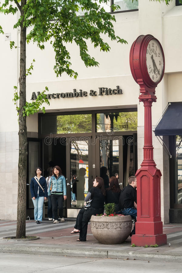 Abercrombie & Fitch-opslag, Seattle, WA royalty-vrije stock foto