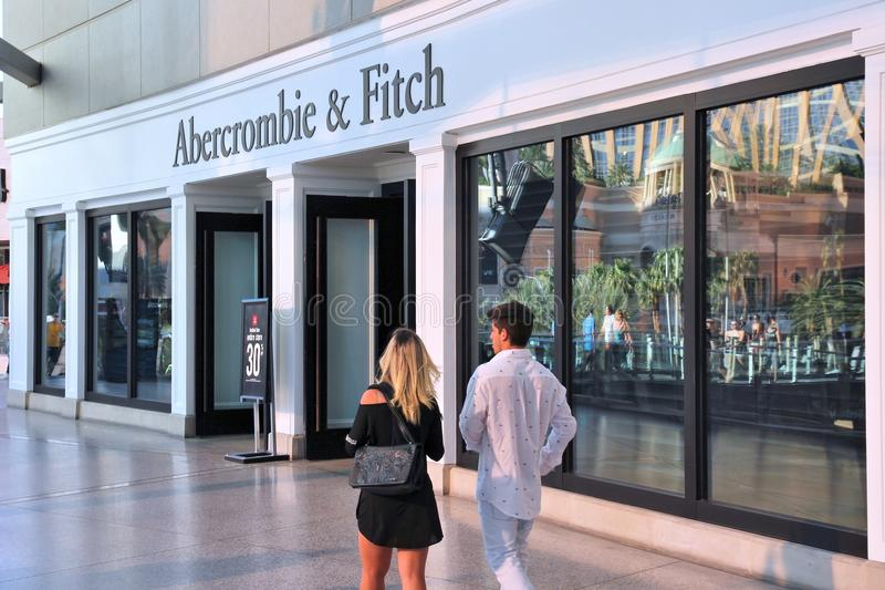 Abercrombie y Fitch fotografía de archivo libre de regalías