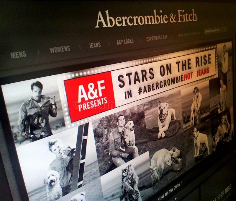 ABERCROMBIE Y ROPA DE FITCH fotografía de archivo