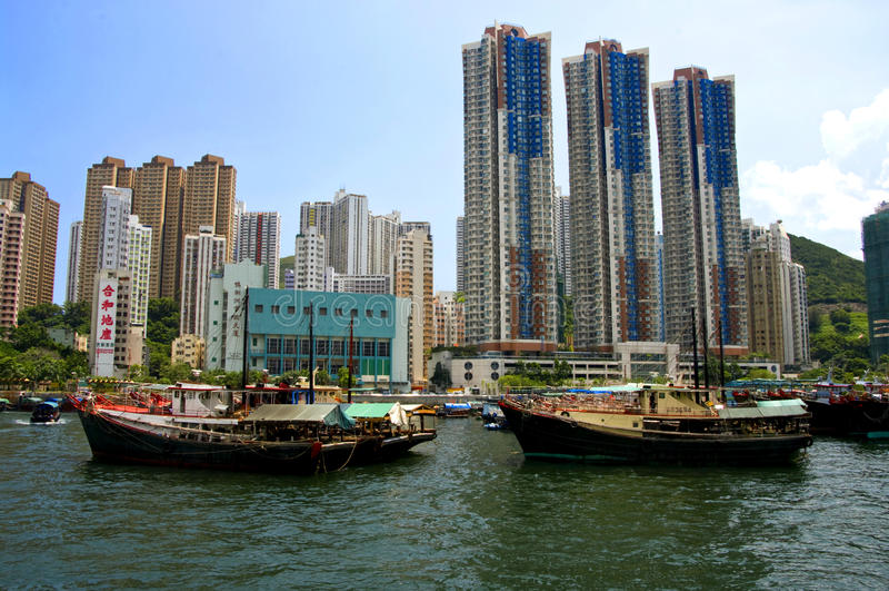 Aberdeen, île de Hong Kong image libre de droits