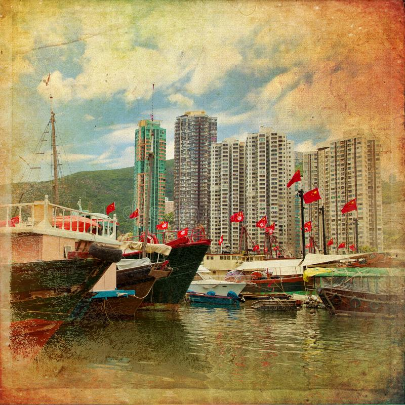 The Aberdeen arbour in Hong Kong stock image