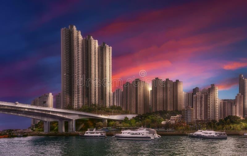 Aberdeen Bay - Hong Kong - China royalty free stock images