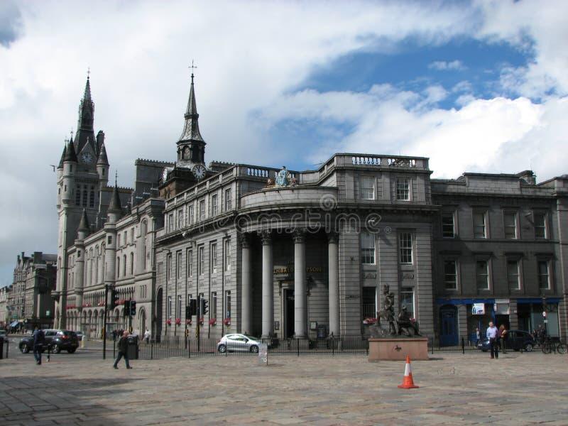 Aberdeen. City centre in Aberdeen, Scotland stock photo