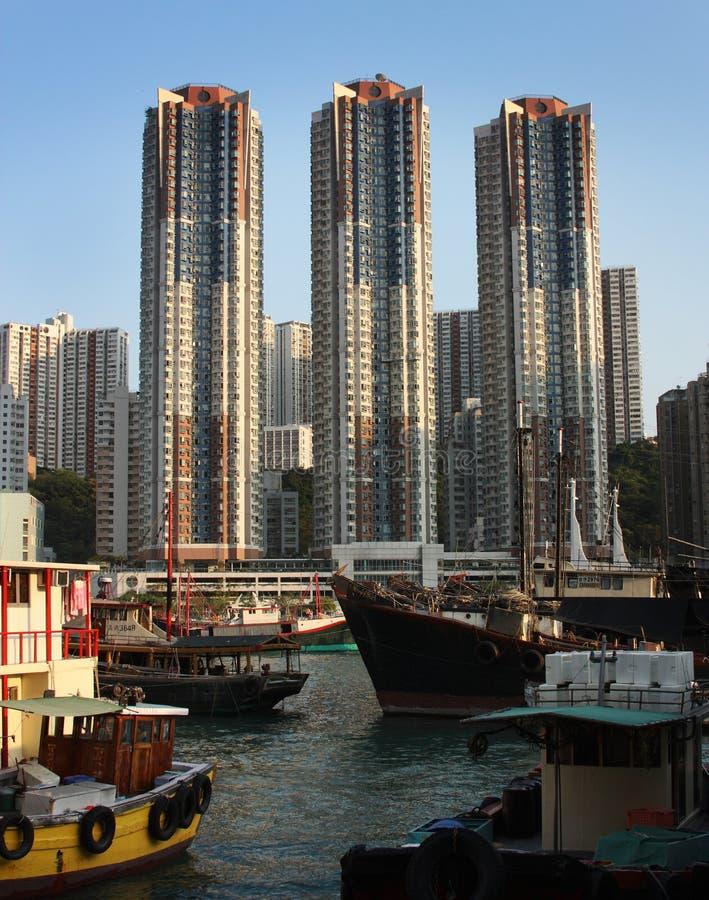 aberdeen hamn Hong Kong royaltyfri fotografi