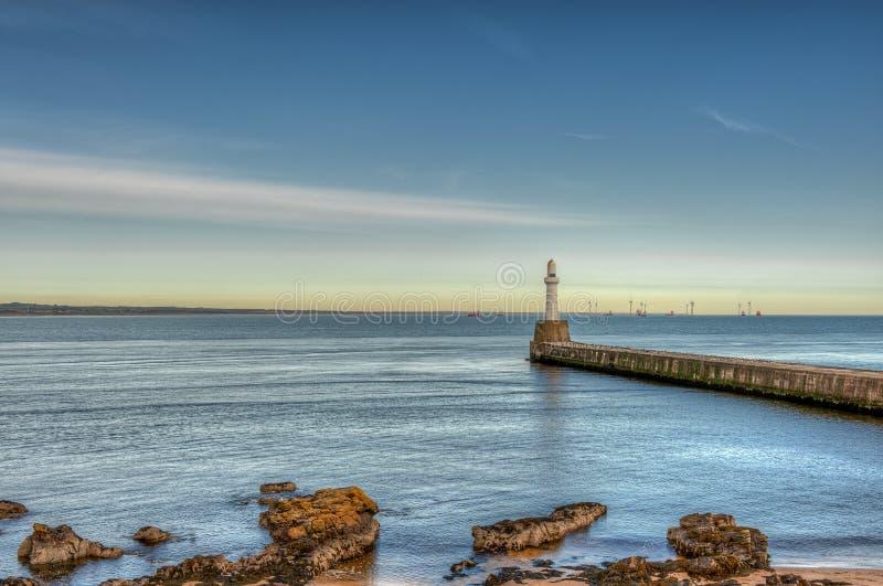 Aberdeen harbor, Schottland, Vereinigtes Königreich stockfotografie