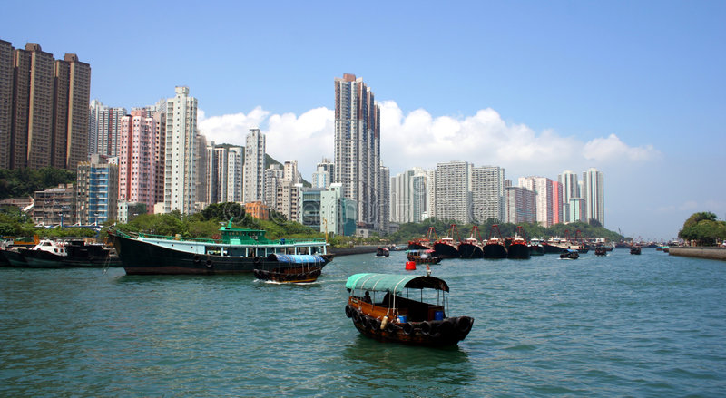 Aberdeen, Hong Kong, China imagem de stock royalty free