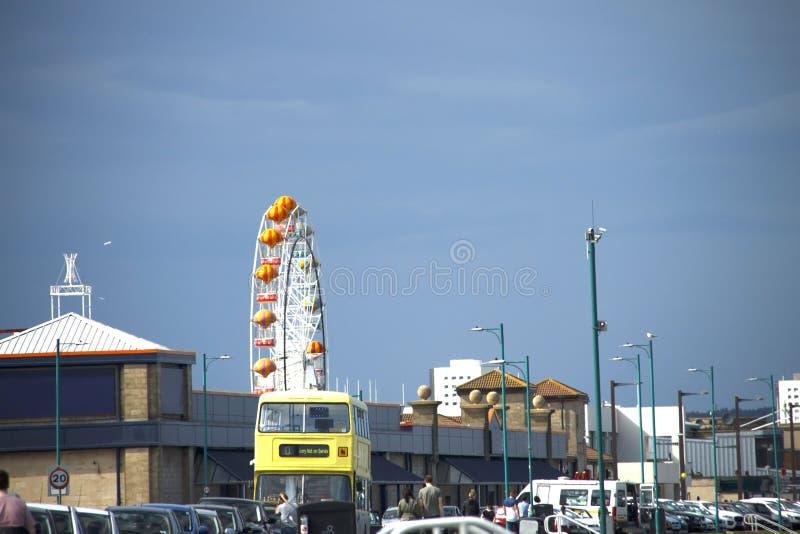Aberdeen rolig strand scotland royaltyfri foto