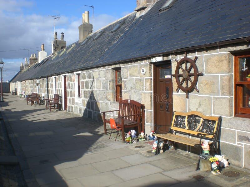 Aberdeen Rowhouse lizenzfreie stockfotos