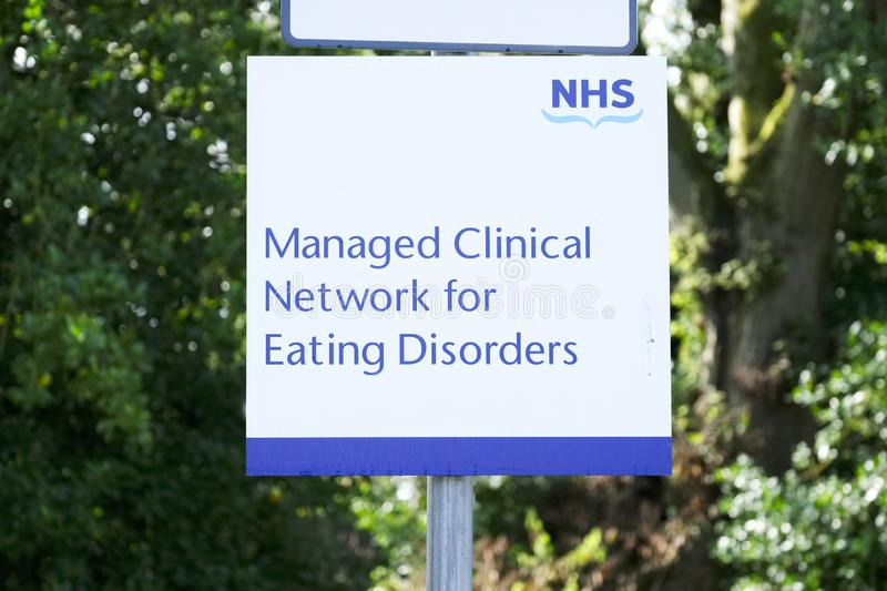 New eating disorder clinic at hospital for anorexic and mental illness patients stock image