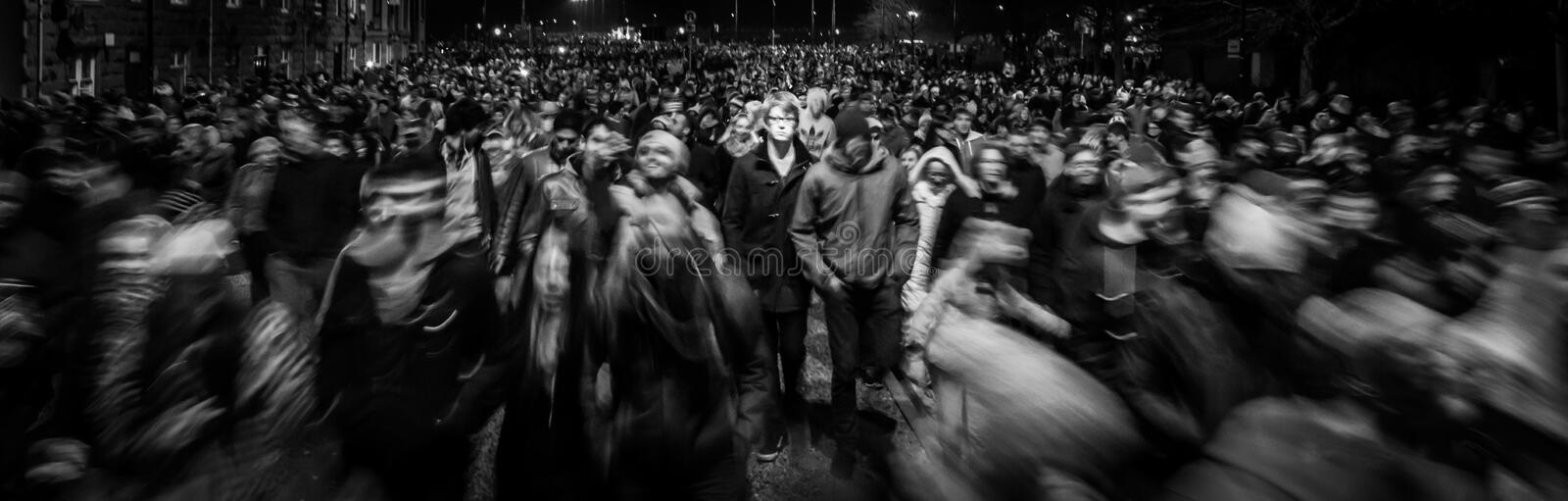 I the crowd. royalty free stock image