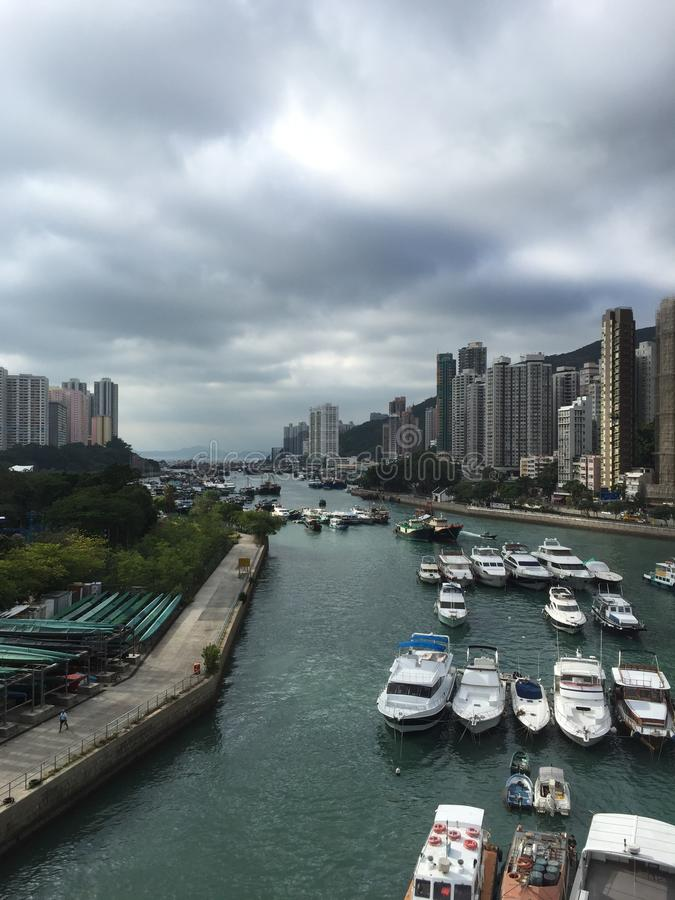 Aberdeen tyfonskydd av Hong Kong royaltyfria foton