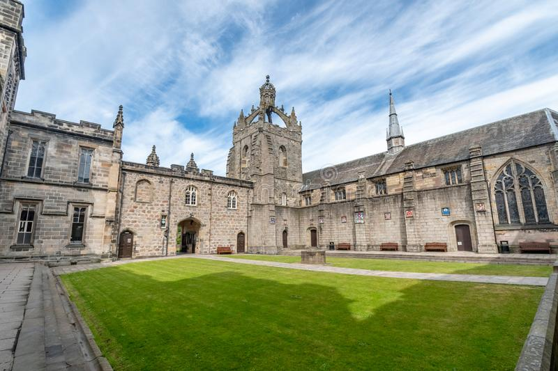 Aberdeen University King`s College building. This is the oldest royalty free stock images