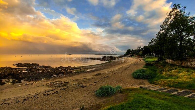 Aberdour plaża zdjęcie royalty free