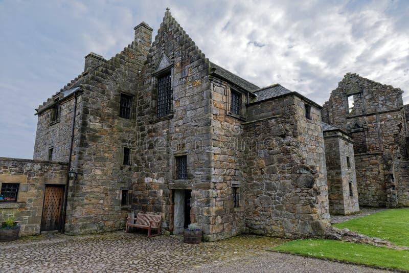 Aberdourkasteel, Schotland stock afbeeldingen