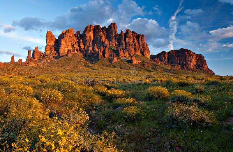Aberglaube-Berge, Arizona lizenzfreies stockbild