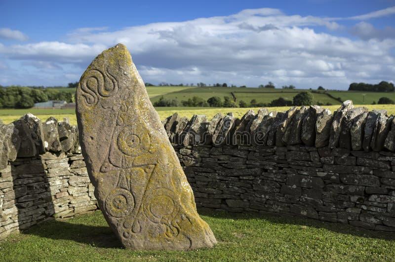 Aberlemno Pictish kamień, Szkocja zdjęcia royalty free