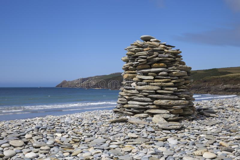 Abermawr, Pembrokeshire stock foto's