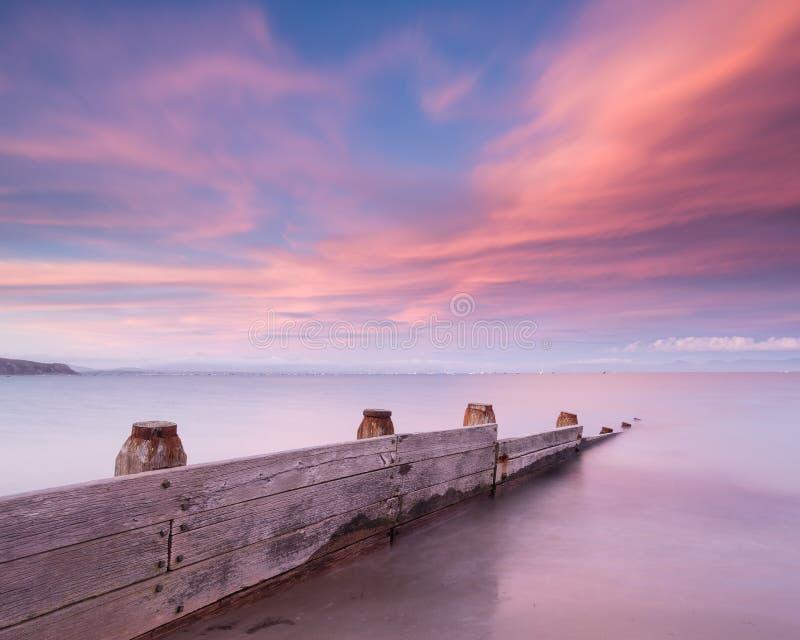 Abersoch strand, norr Wales royaltyfria foton