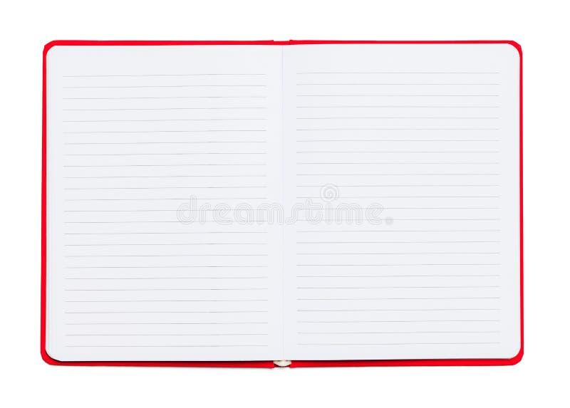 Aberto alinhado caderno fotografia de stock royalty free