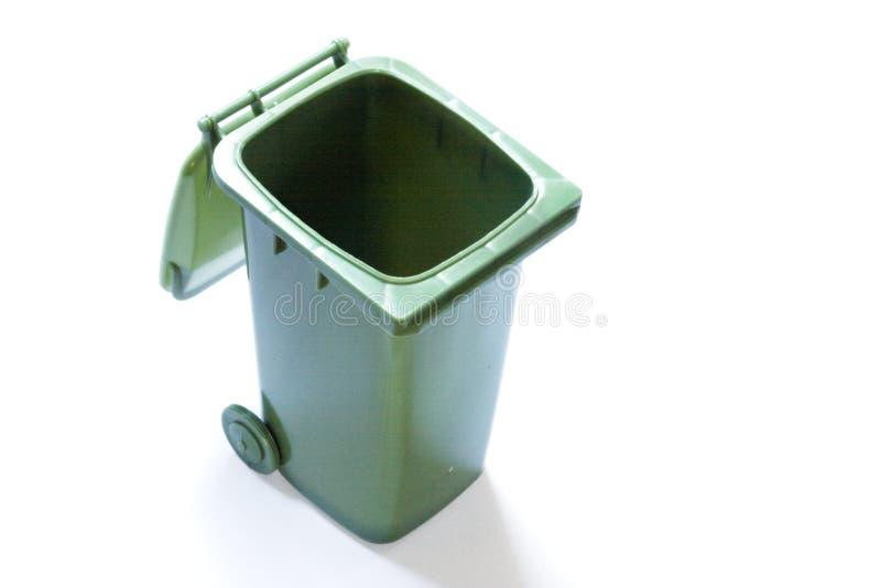 Aberto recicl o escaninho fotografia de stock