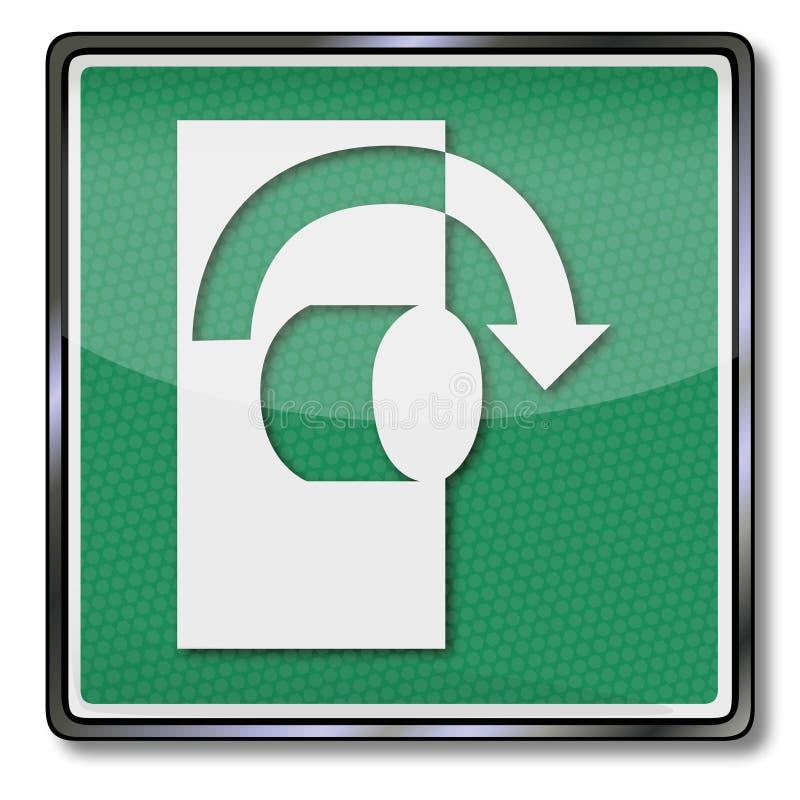 Abertura abierta dando vuelta a la derecha imagen de archivo libre de regalías