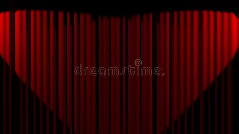 Abertura da cortina do cinema ilustração royalty free
