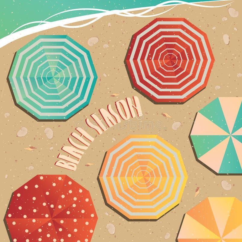 A abertura da estação da praia ilustração stock