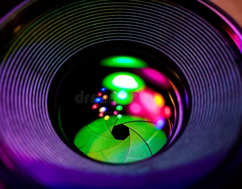 Abertura de lente y reflejo de luz fotos de archivo libres de regalías