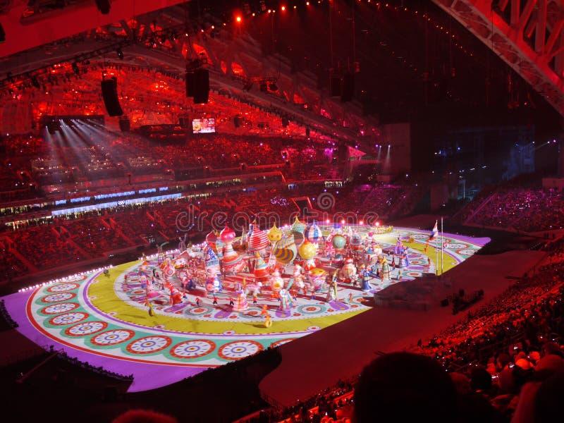 Abertura de los Juegos Olímpicos imagenes de archivo