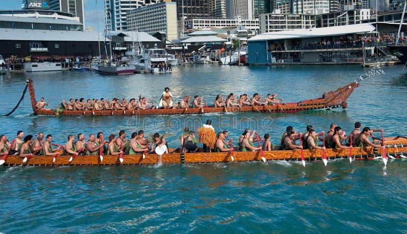 Abertura de RWC - beira-rio de Waka Auckland fotografia de stock