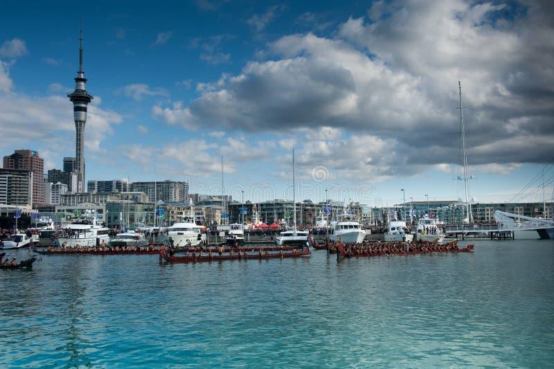 Abertura de RWC - beira-rio de Waka Auckland fotografia de stock royalty free