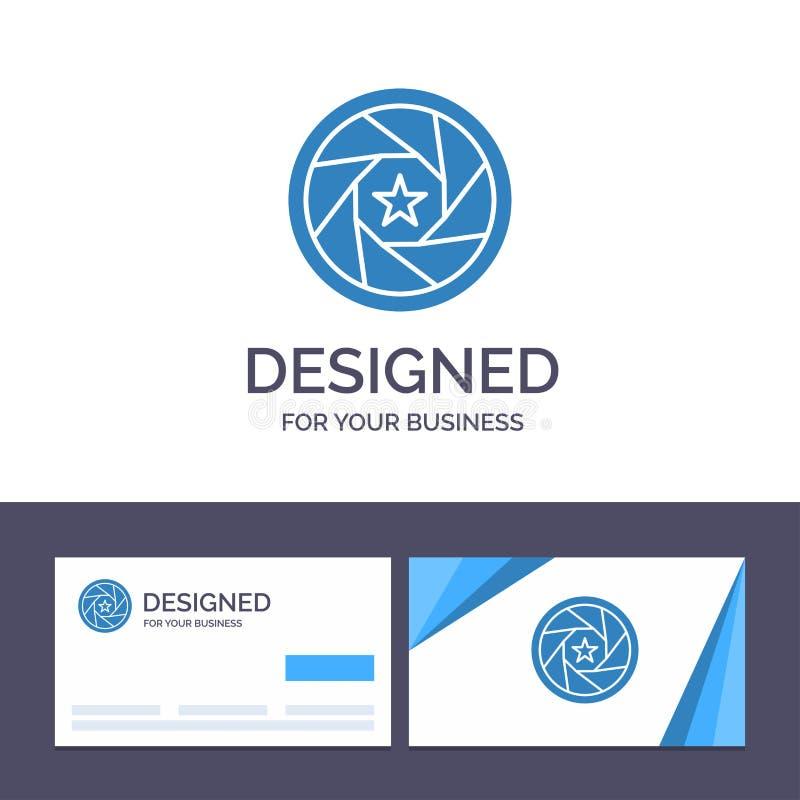 Abertura de visita de la plantilla creativa de la tarjeta y del logotipo, película, logotipo, película, ejemplo del vector de la  libre illustration