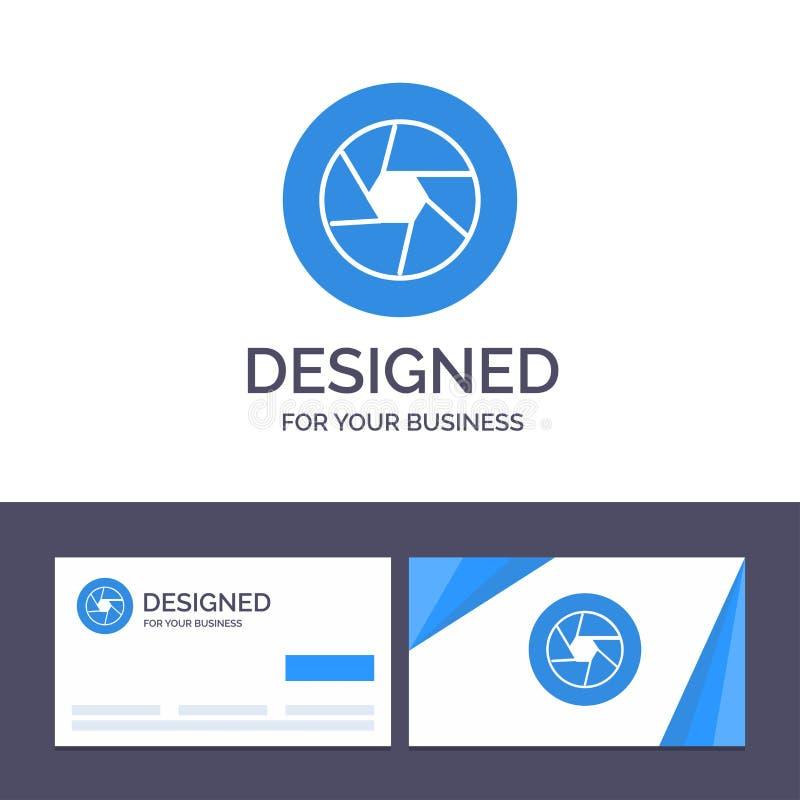 Abertura de visita de la plantilla creativa de la tarjeta y del logotipo, película, logotipo, película, ejemplo del vector de la  stock de ilustración