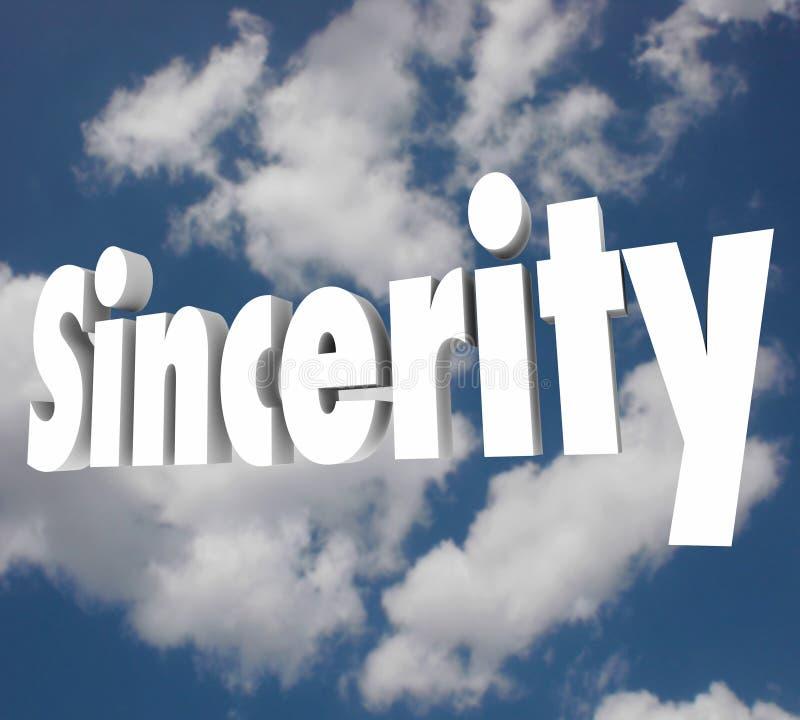 Abertura direta verdadeiro da honestidade da palavra da sinceridade 3d ilustração stock