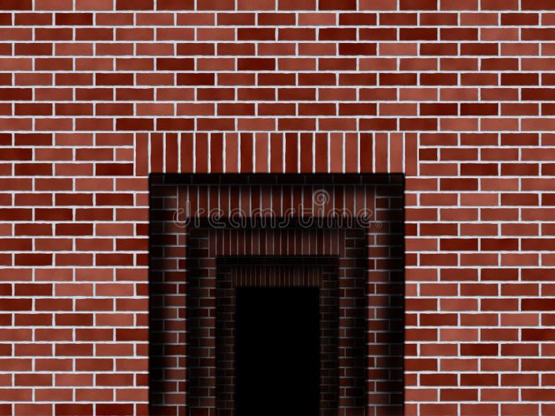 Abertura na ilustração das paredes ilustração do vetor
