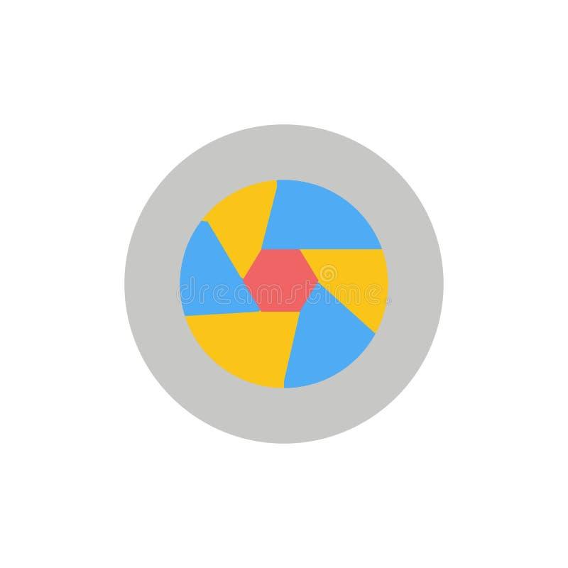 Abertura, película, logotipo, película, icono plano del color de la foto Plantilla de la bandera del icono del vector ilustración del vector