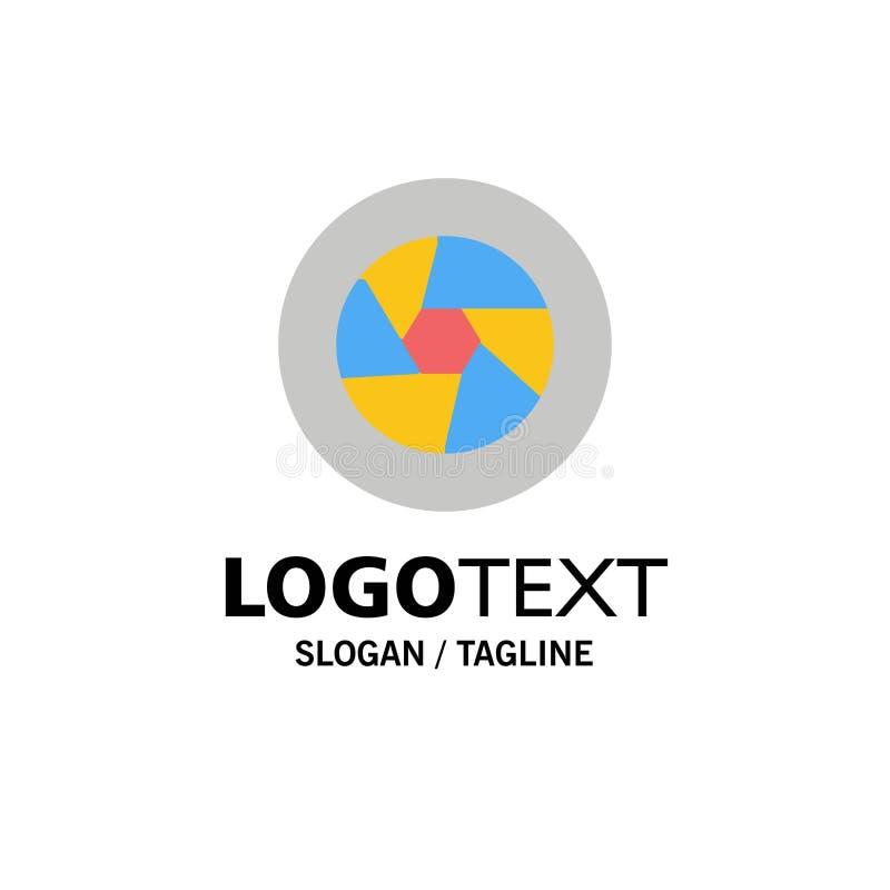 Abertura, película, logotipo, película, negocio Logo Template de la foto color plano ilustración del vector