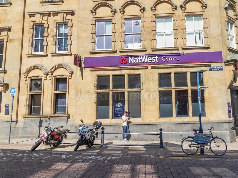 Aberystwyth, Wales / UK - July 20th 2019 - Natwest Cymru bank building royalty free stock image