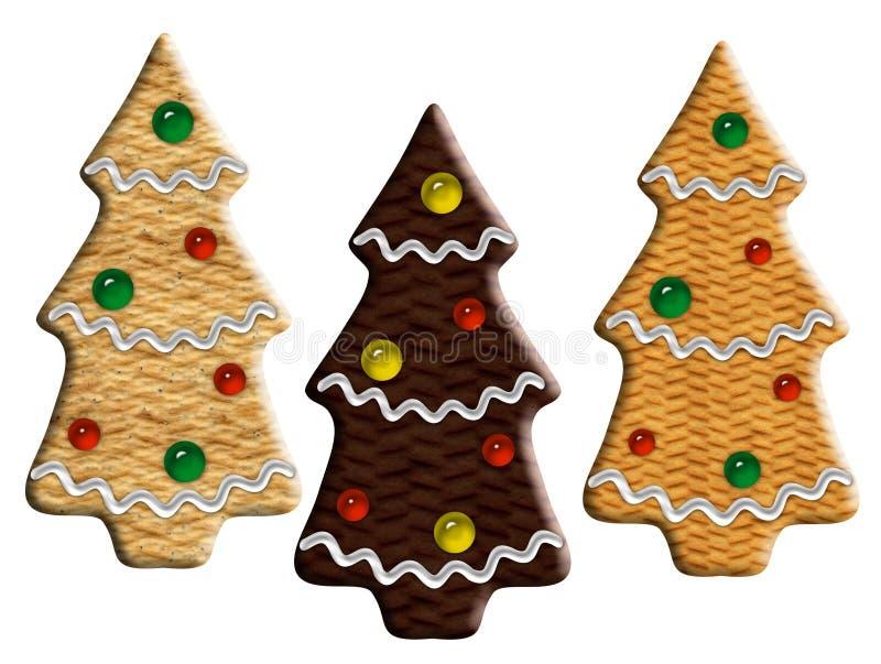 Download Abeti Dello Zenzero Di Natale Illustrazione di Stock - Illustrazione di alimento, pane: 3894642