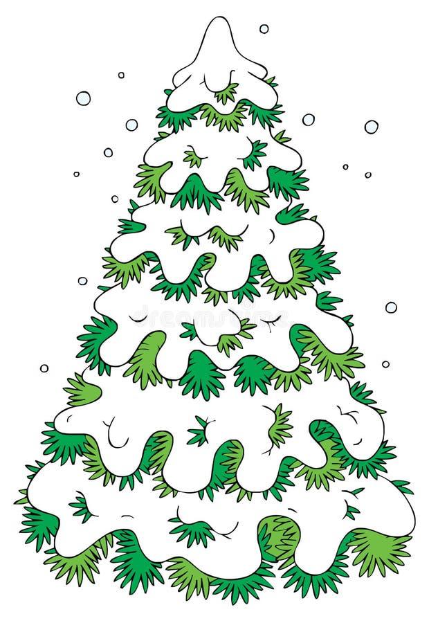 Abeto del invierno stock de ilustración