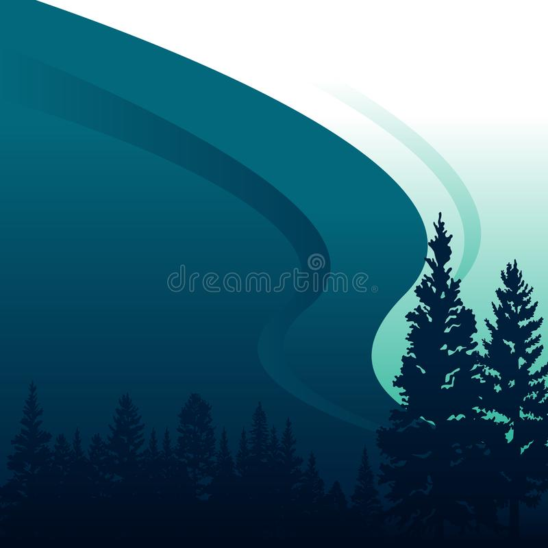 Abeto Forest Conifer Coniferous Tree Background do pinho ilustração stock