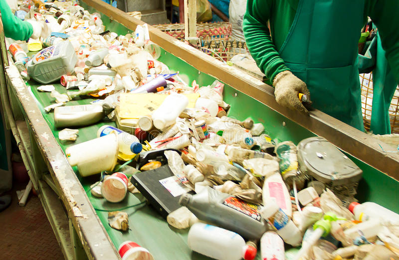Abfall für die Wiederverwertung lizenzfreies stockbild