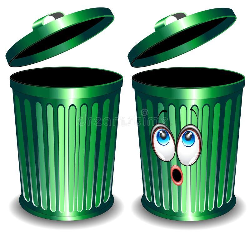 Abfall-Stauraum-Karikatur vektor abbildung