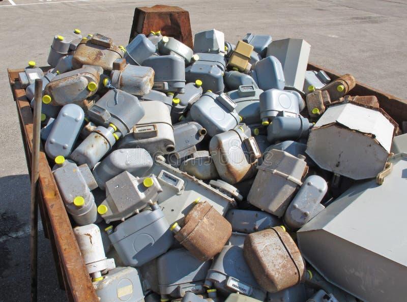 Abfallbehälter der Aufschüttung lizenzfreie stockbilder