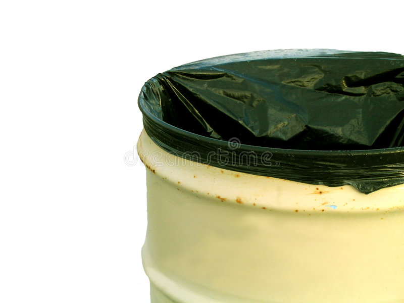 Abfalldose - getrennt lizenzfreie stockfotos