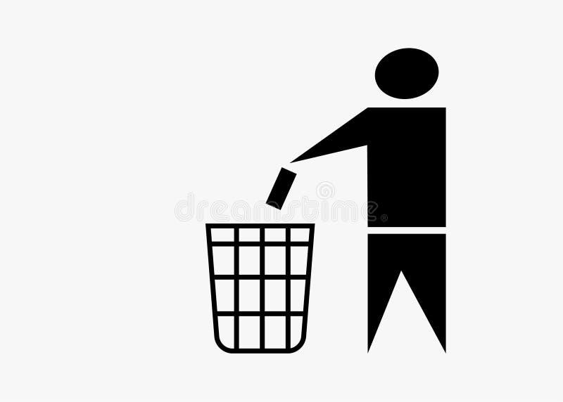 Abfalleimersymbol kein Abfall vektor abbildung