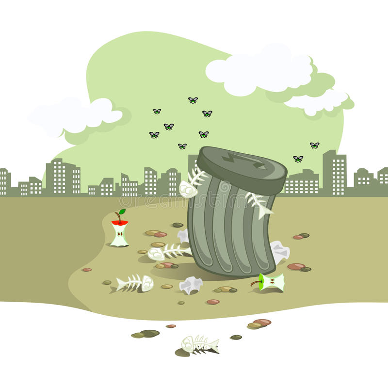 Abfallgrube stockfotografie