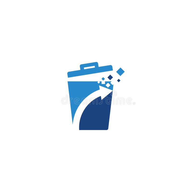 Abfallkorbikone stock abbildung