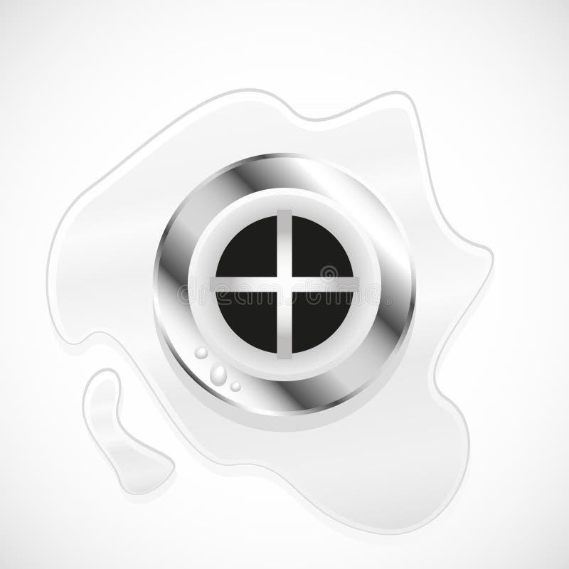 Abfließende Verschlussstopfen-Öffnung des Wassers vektor abbildung